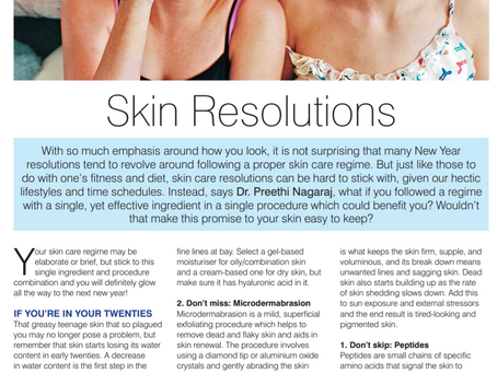 Happy Flying magazine Jan 2017 - Skin resolutions