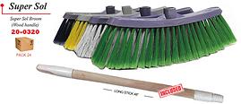 20-0320 Broom Super Sol Wood Handle
