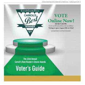 Carroll's Best Voter's Guide - 8.8.2021