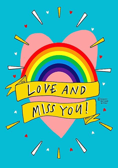 Love & Miss You Greetings Card
