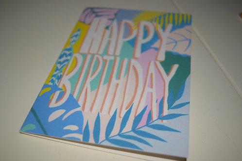 Happy Birthday Botanicals Greeting Card