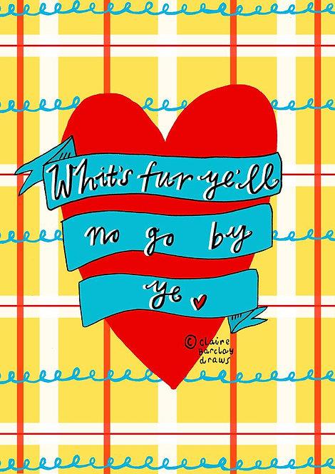 Whit's Fur Ye...Greetings Card