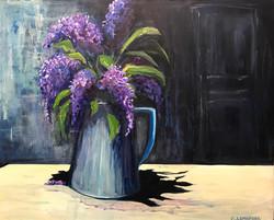 18x24 Lilacs in Jug $350