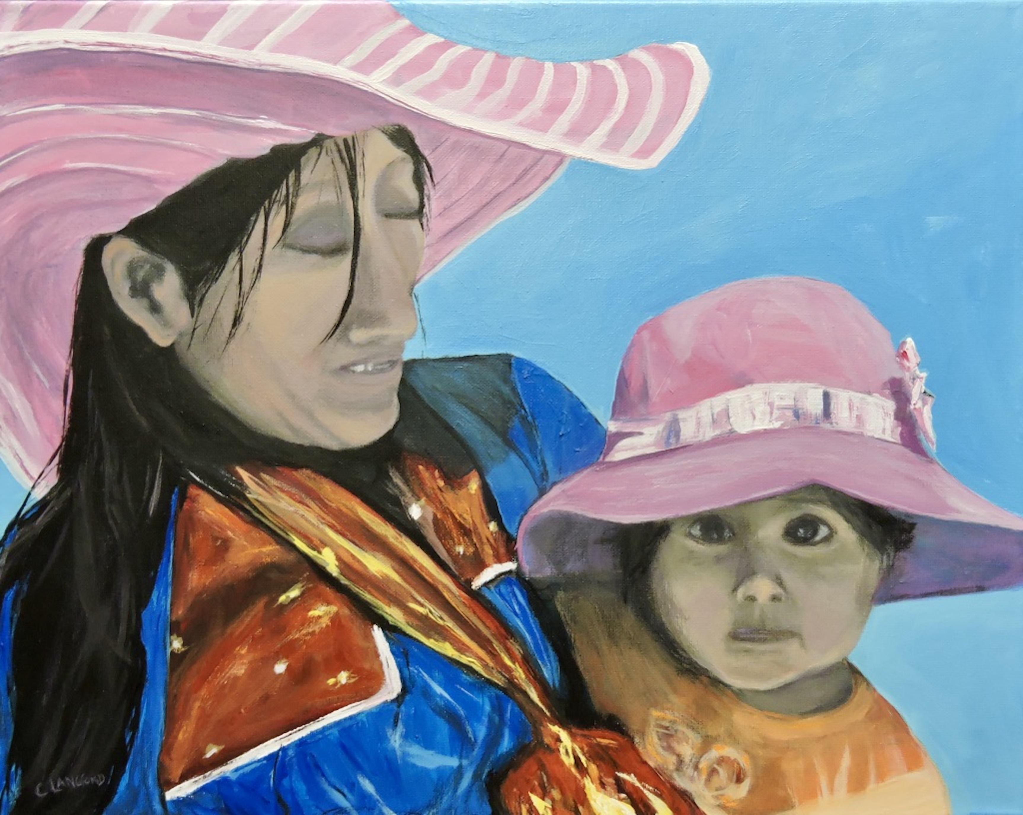 16x20 Madre y el Nina $450