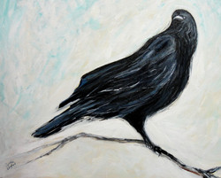 16x20 Crafty Crow $300