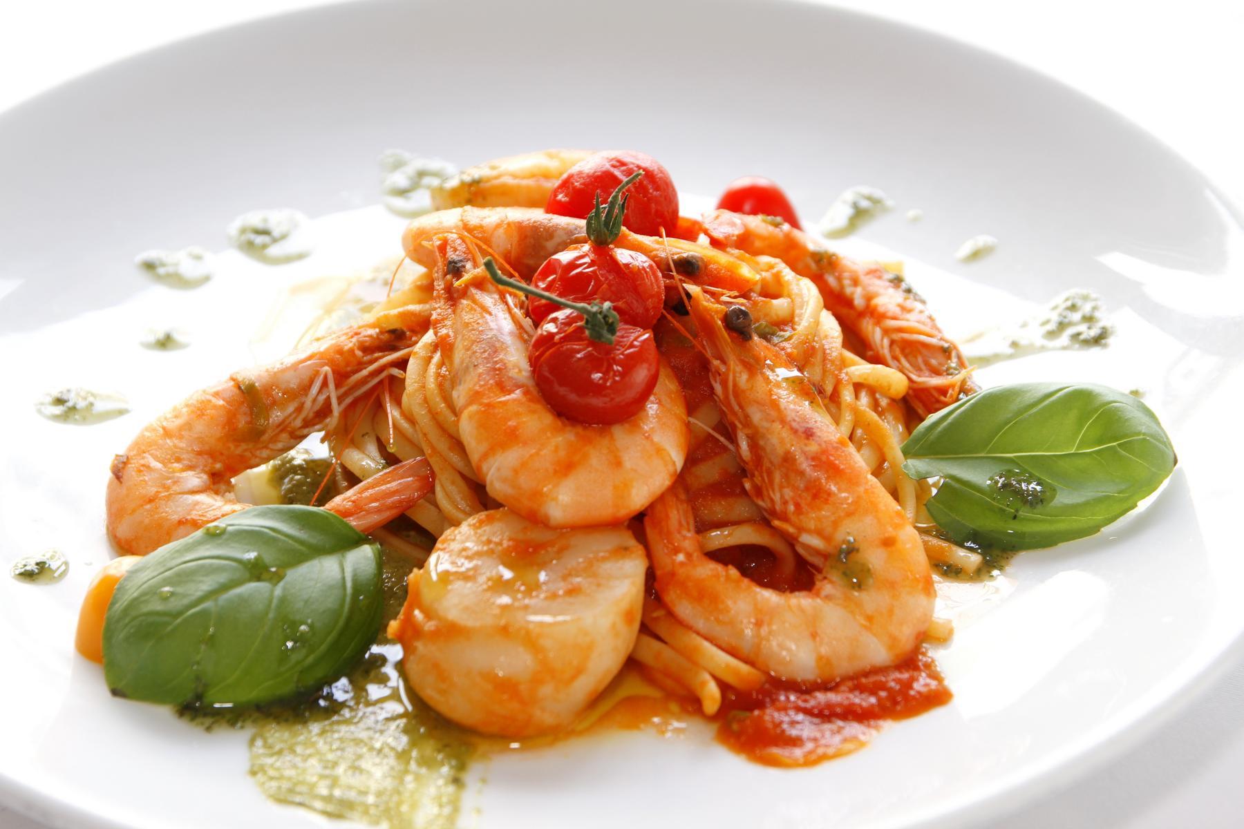 Spaghetti und Gambas