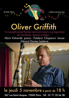 Affiche Oliver Griffith 5 novembre 2020.