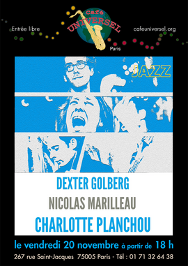 Affiche Charlotte Planchou 20 novembre 2