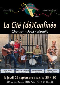 Affiche La Cité (dé)Confinée 23 septembr
