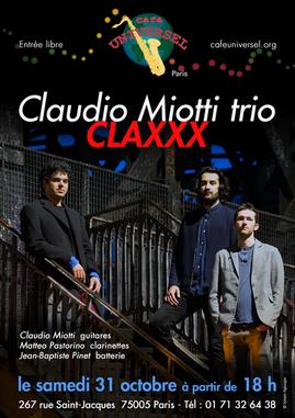 Affiche Claudio Miotti trio - CLAXXX 31