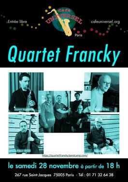 Affiche Quartet Francky 28 novembre 2020