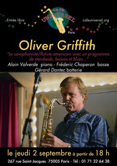 Affiche Oliver Griffith 2 septembre 2021