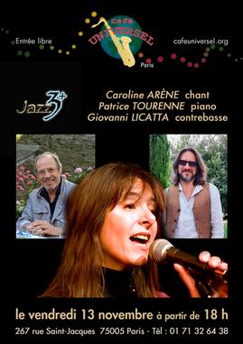 Affiche_CAROLINE_ARÈNE_&_JAZZ_3+_13_no