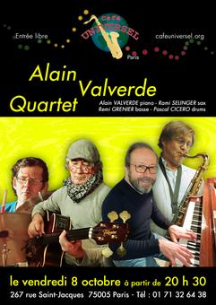 Affiche Alain Valverde Quartet 8 octobre