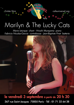 Affiche Marilyn & The Lucky Cats 3 septe