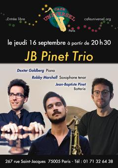 Affiche JB Pinet Trio 16 septembre 2021.
