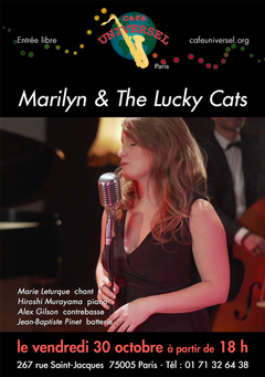 Affiche Marilyn & The Lucky Cats 30 ocob