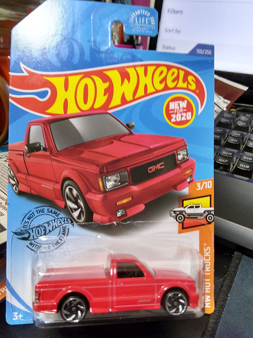 Hot Wheels  '91 GMC Syclone Red