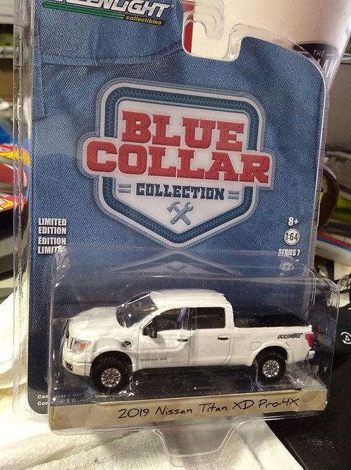 Blue Collar Series 2019 Nissan Titan XS Pro 4x   1:64 Scale