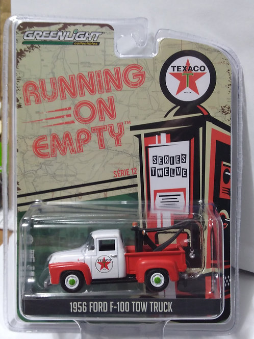 GreenLight  Running On Empty Texaco 1956 Ford F-100 Tow Truck    1:64 Scale