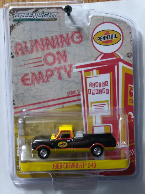 GreenLight Running on Empty Series Pennzoil 1968 Chevy C-10  1:64 Scale