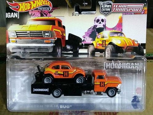 Hot Wheels Team Transport VW Baja Bug and Horizon Hauler  1:64 Scale