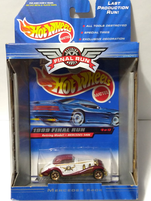Hot Wheels  1999 Final Run Series #9 of 12  Mercedes 540k