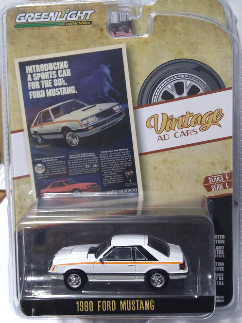 GreenLight Vintage AD Cars Series 1980 Ford Mustang  1:64 Scale