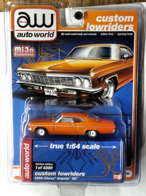 Auto World 1966 Chevy Impala Orange MiJo Exclusive Limited to 1 of 4,800