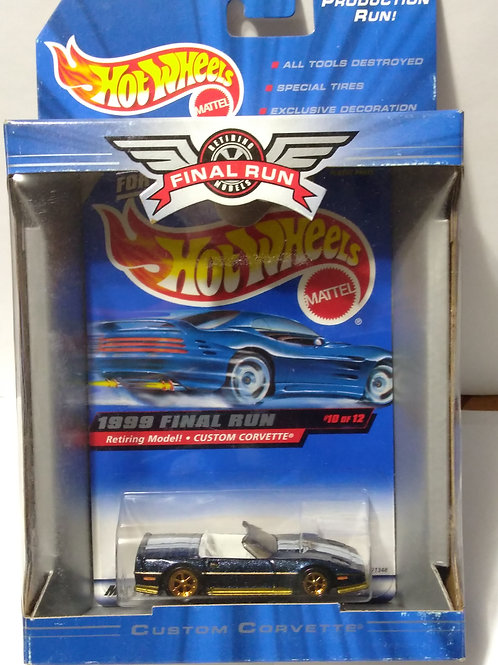 Hot Wheels  1999 Final Run Series #10 of 12  Custom Corvette