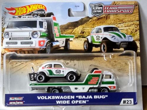 Hot Wheels Team Transport VW Baja Bug & Wide Open