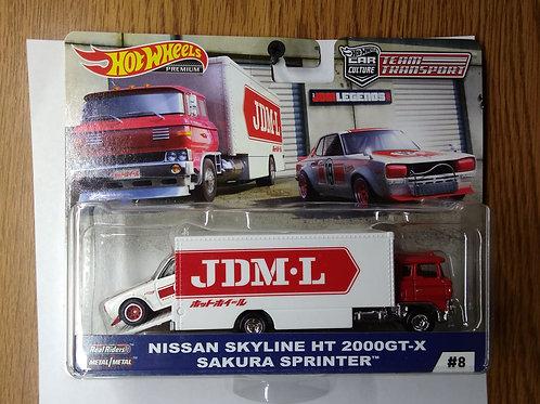 Hot Wheels Team Transport  Nissan Skyline HT 2000 GT-X & Sakura Sprinter
