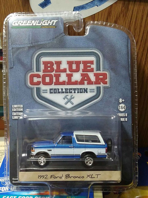 Blue Collar Series 1992 Ford Bronco XLT   1:64 Scale