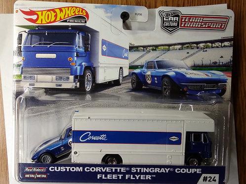 Hot Wheels Team Transport  Custom Corvette Stingray Coupe & Fleet Flyer