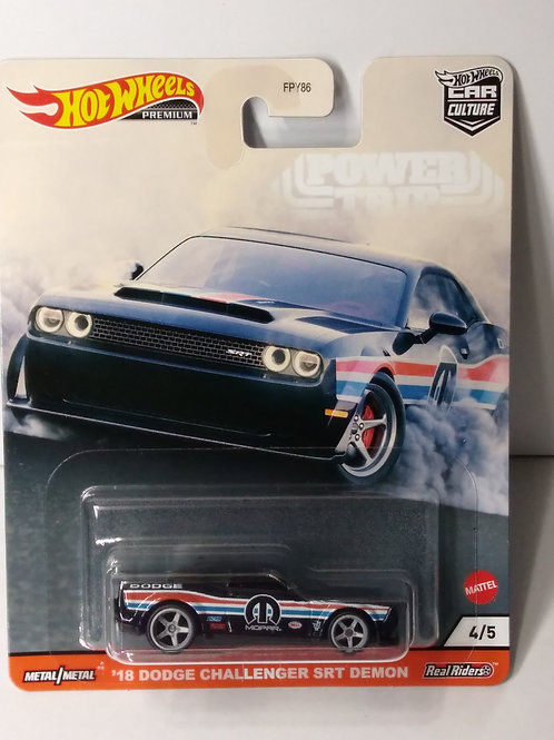 Hot Wheels Power Trip Series  '18 Dodge Challenger SRT Demon