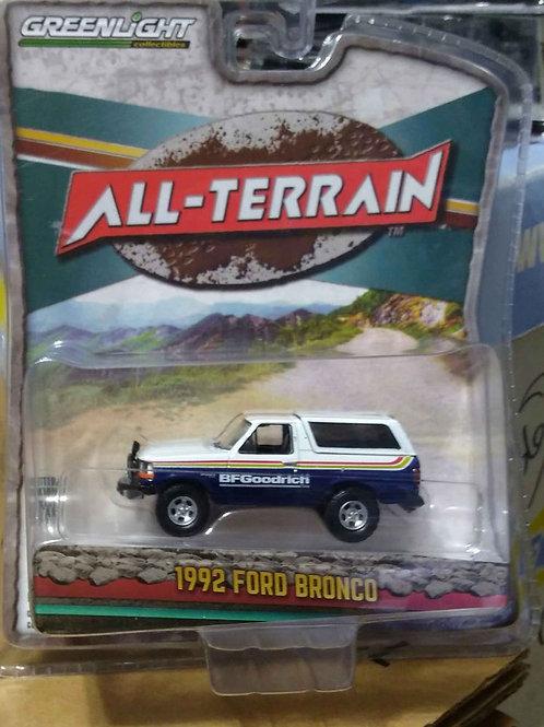 GreenLight All0Terrain Series 1992 Ford Bronco BF Goodrich