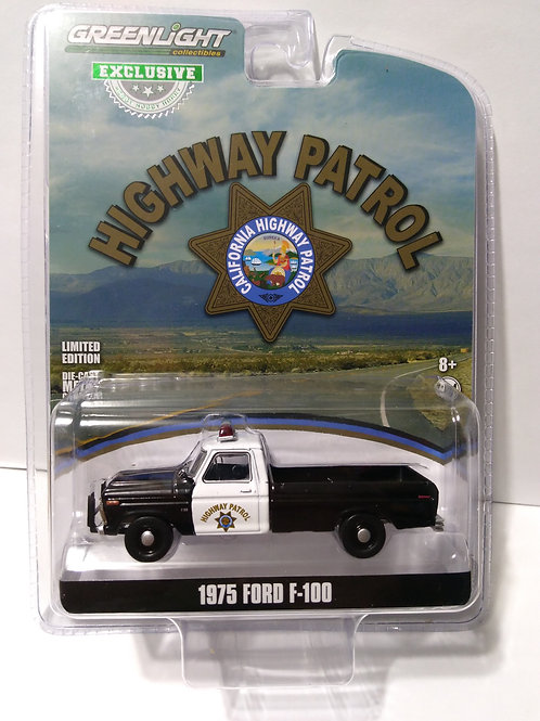 GreenLight  California Highway Patrol 1975 Ford F-100 Pickup   1:64 Scale