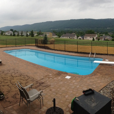 Overview of Pool Side Pavers