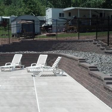 Pool Side Paver, Retaining Wall