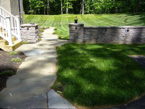 Flat Natural Stone Walkway