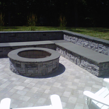 Firepit, Pavers, and Sitting Area