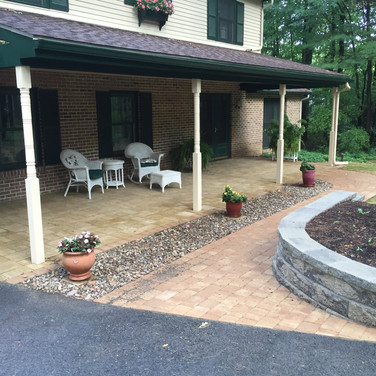 After Landscaping, Paver wall