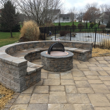 Outdoor Firepit and Sitting Area