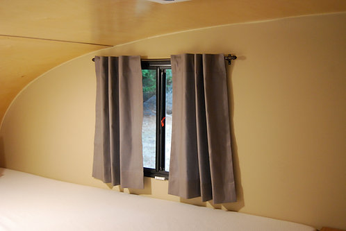 """Insulating Room Darkening Back Tab Curtains for small windows up to 20"""" W"""