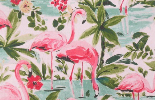 """Waverly Floridian Flamingo Insulated Camper Curtains Window Shade up to 19""""W"""