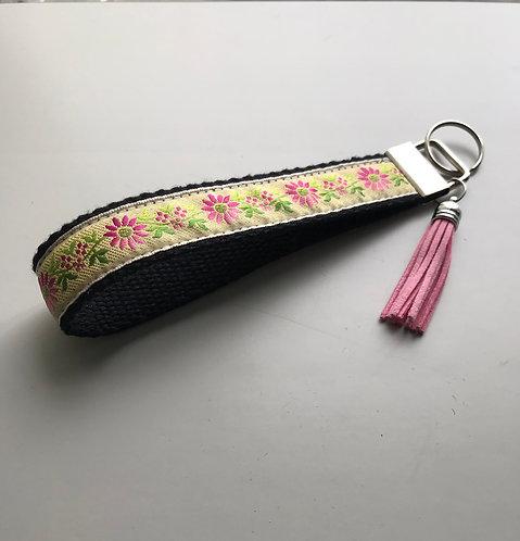 Mellow Fields Jacquard Ribbon Key Fob Wristlet