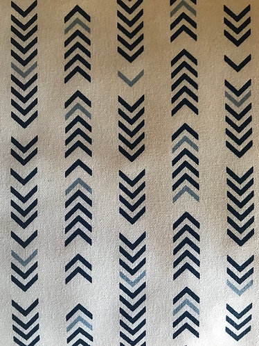 """Navy Arrows in Sail Insulated Camper Curtains Window Shade up to 19""""W"""