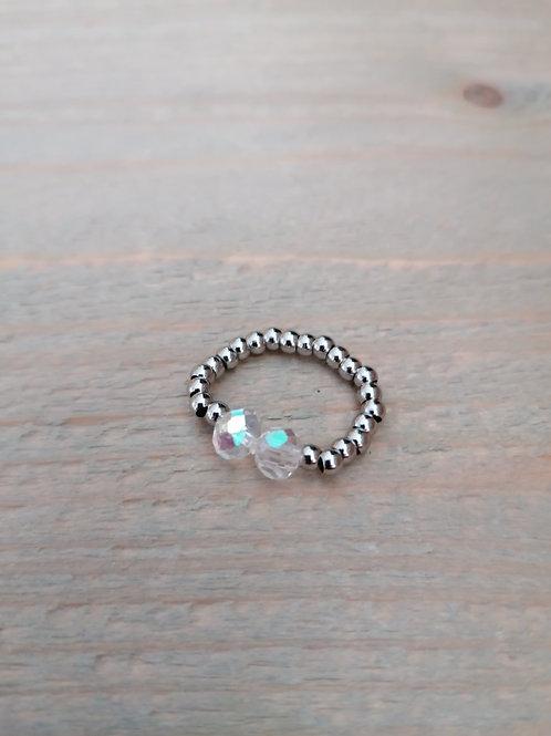 Elastic Ring Silver
