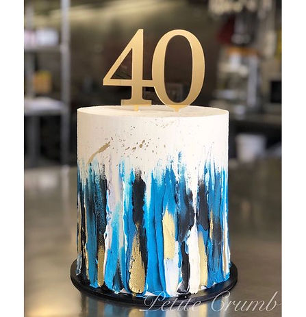 ganache with buttercream paint cake.jpg