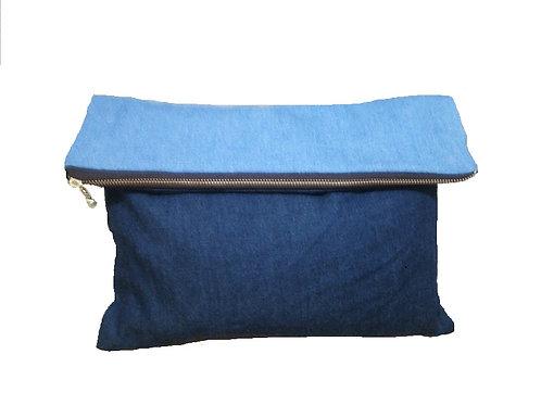 Denim Clutch Bag